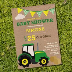 Vintage John Deere Tractor Baby Shower By SunshineParties On Etsy, $5.00