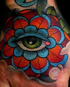 Seeing eye hand tattoo. Done by Les at searchlight tattoo - Imgur