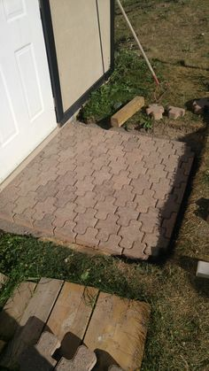 Finished laying the pavers