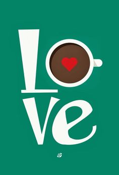 Love Hot Chocolate or Coffee in Green & Red