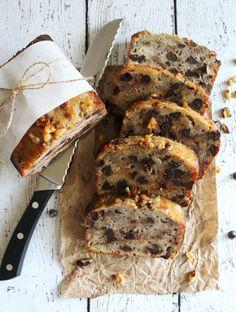 Chocolate chip banana walnut bread