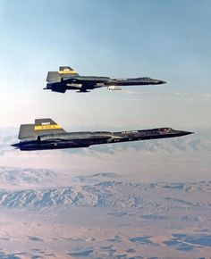 Two SR-71 Aircraft in flight
