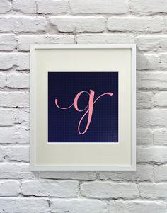 Humorous 'G' - Calligraphy