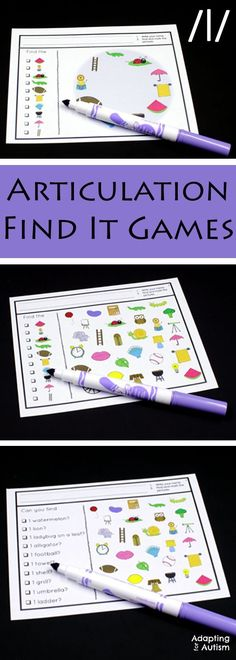 Articulation games for an easy no prep activity to add fun to your speech therapy. Practice producing the /l/ sound in all three positions with three levels of difficulty. Can also be used as a work task in your special education classroom!