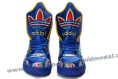 Adidas X Jeremy Scott Big Tongue Embroidery Blue Shoes Outlet