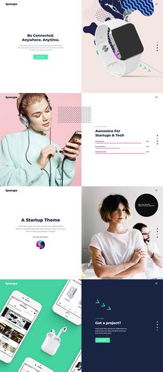 Get your startup or digital agency site up and running today; get Synergia WordPress theme!  #wordpress #webdesign #theme #layout #template #digital #startup #agency #app #software #technology #landingpage