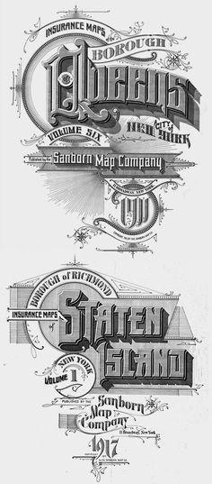 The Typography of Sanborn New-York City