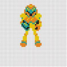 8 Bit Samus Perler Bead Pattern | Bead Sprites | Characters Fuse Bead Patterns