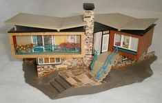 1958 FALLER 271 HO Scale SWISS LAKE HOUSE Mid Century Modern Home w/ Box | eBay