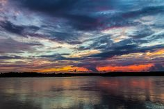 sunset on the mississippi by Jeremy Sorrells, via Flickr