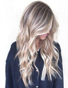 blonde balayage hair color ash blonde golden blonde caramel highlights beach mermaid hair ideas #BlondeHairstylesIdeas