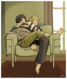Quite possibly one of the cutest Sherlock fan arts I've seen.