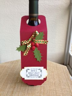Holly Jolly Wine Bottle Tag