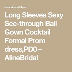 Long Sleeves Sexy See-through Ball Gown Cocktail Formal Prom dress,PD0 – AlineBridal