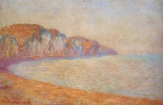 Cliff at Pourville in the Morning, 1897    Claude Monet