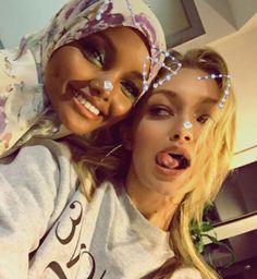 Gigi and Halima Aden tonight!