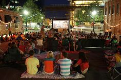 Downtown Provo summer movies!