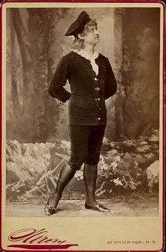 "Sarony cabinet card of Digby Bell as Archibald Grosvenor in an unauthorized American production of ""Patience,"" photo, early 1880s."