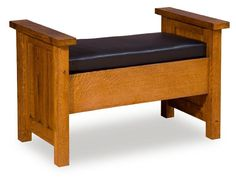 Amish Benches with Storage - JN-41DB-SWS