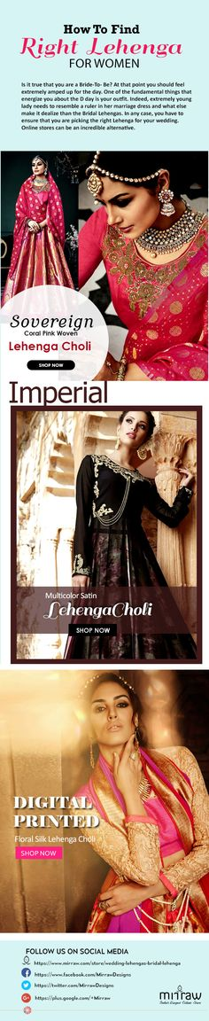 How to find right lehenga for women? Visit Mirraw and grab attractive discounts. Latest Bridal Lehenga, Bridal Lehenga Online, Bridal Lehenga Choli, Wedding Lehenga Designs, Choli Designs, Bride, Formal Dresses, Collection, Women
