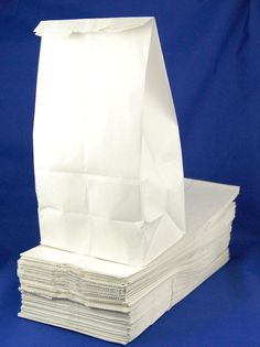 Paper Lunch Bag - 110 Count - White 30# - 5 x 3-1/8 x 9-3/4 inches