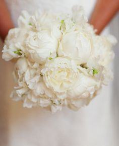 White Peony Bouquet | Love Captures by Jonathan Young | blog.theknot.com