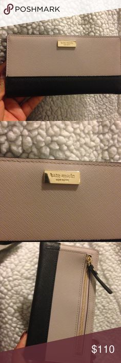 Kate Spade Laurel Way Stacy in Mousse Frost & Blck Brand new! With original tags still attached! Makes a beautiful birthday or Mother's Day gift! Please make your offers through the offer button, I don't discuss prices in comments! Please keep in mind the 20% commission fees when making offers. kate spade Bags Wallets