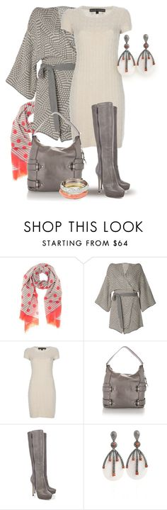 """Cardigan, Dress, Boots"" by yasminasdream ❤ liked on Polyvore featuring Marc by Marc Jacobs, Raxevsky, Ralph Lauren, Michael Kors, Jimmy Choo and GUESS"