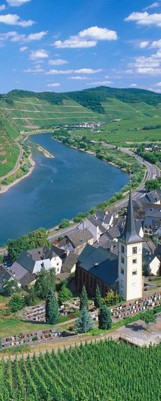 Bremm and Moselle River, Germany