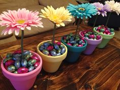 Spring center pieces for Easter!