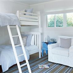 Craft a Cottage Look - 20 Fun, Beachy Bunk Rooms - Coastal Living