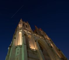 Space Station in the Sky Over Washington D.C.