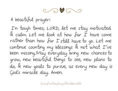 I just prayed this prayer. It definitely captures my thoughts and fears perfectly!!
