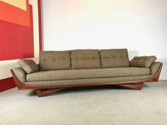 Details About MINT MID CENTURY MODERN GONDOLA SOFA ADRIAN PEARSALL STYLE  NEWLY UPHOLSTERED
