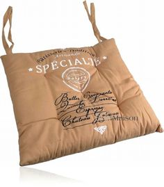 Poduszka na krzesło Specialite beż - BelleMaison.pl Artisanal, Burlap, Reusable Tote Bags, Hessian Fabric, Jute, Canvas