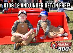 Kids 12 and under can get in FREE to the fred's 250 Powered by Coca-Cola and the Good Sam Roadside Assistance 500! The NASCAR Camping World Truck Series and NASCAR Sprint Cup Series come to Talladega Superspeedway on October 6th and 7th!    THIS IS MORE THAN A RACE...    Call --> 877.Go2.DEGA