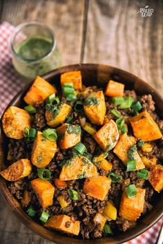Take a journey into South American cuisine with this delicious and quick bowl. sweet potato&ground beef&spices