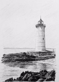 Fancy having a go at this Lighthouse? Let Phil and Bob explain all you need to know in our drawing essentials course coming very soon to ArtTutor