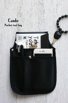 ★キャンドゥ100円!工具バッグをトートバッグのポケットに | インテリアと暮らしのヒント