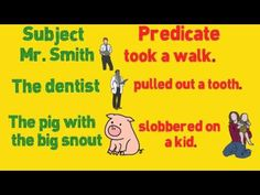"▶ Complete Sentences ""Subjects and Predicates"" by Melissa - YouTube"