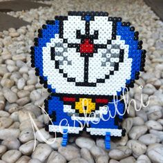Doraemon hama perler beads by naskathi