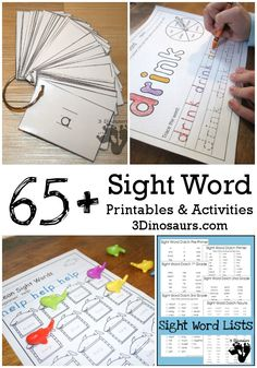 Sight Word Printables and Activities - Homeschool Giveaways Sight Word Activities, Phonics Activities, Reading Activities, Teaching Reading, Kids Learning, Reading Resources, Guided Reading, Sight Words List, Sight Word Practice