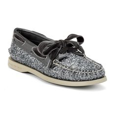 Sperry topsider charcoal and glitter boat shoes - want