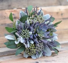 Just added this dried and silk flower bouquet to Holly's Flower Shoppe. See more here: https://www.etsy.com/listing/267687689/wedding-bouquetlavender-succulent-dried?ref=shop_home_active_14