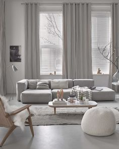 Find your favorite Minimalist living room photos here. Browse through images of inspiring Minimalist living room ideas to create your perfect home. Scandinavian Design Living Room, Curtains Living Room, Minimalist Living Room, Living Room Scandinavian, Home And Living, Apartment Living, Living Decor, Living Room Grey, White Living Room Decor