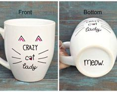 Crazy Cat Lady Funny Pet Lover Friend Coffee Mug by DesignsByManon