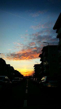 #sunset,# street, #citynights, #cityphotography, #citylights