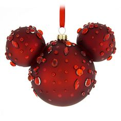 Product Image of Mickey Mouse Icon Glass Ornament - Ruby Gems # 1 Victorian Christmas Ornaments, Disney Christmas Ornaments, Peanuts Christmas, Christmas Crafts, Christmas Decorations, Christmas Stuff, Christmas Recipes, Christmas Holiday, Christmas Ideas