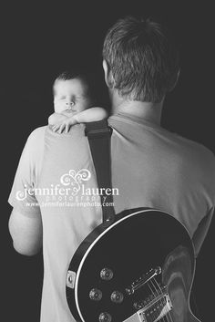 JenniferLauren-Dallas-Newborn guitar daddy