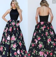 When you are going to take a dancing party,you would better to wear this maxi dress,which with flower print patchwork and halter design can make you looked char